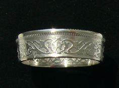 Silver Coin Ring 1963 Yemen 10 Buqsha  Ring by GlobalCoinJewelry, $44.99