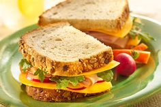 Turkey, Vegetable and Longhorn Colby Cheese Sandwiches Recipe
