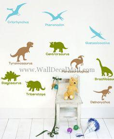 Jurassic Dinosaur Ages Wall Decals – WallDecalMall.com