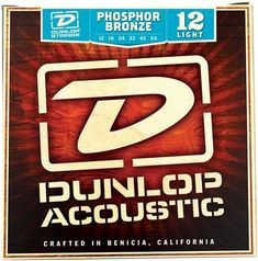 Dunlop DAP1254 Phosphor Bronze Acoustic Guitar Strings, Light
