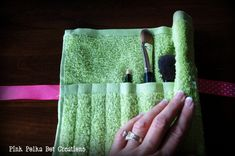 use washcloth for make up brushes. Clean brushes as needed on washcloth and when it gets too dirty, throw in wash