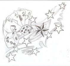 Tattooflash Tribal Cards Dices by 2Face-Tattoo on DeviantArt