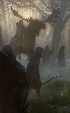 "Symbraoum RPG: ""According to the elves of the Iron Pact the human race once vowed never to set foot in the deep of Davokar again. They also claim that they are obliged to kill all humans who violate that promise."" (Image: Järnringen)"