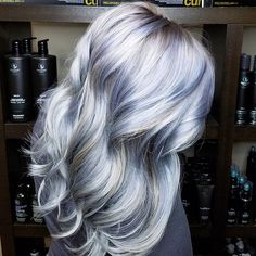 Absolutely loving Joico Intensity Metallics! I used Pewter with a dash of violet diluted with olaplex number 2 over babylights to create this gorgeous multi tone silver