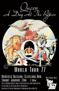 Queen 1977 Cleveland Concert Poster by ClevelandRockAndRoll, $15.00