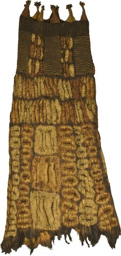 Africa | Tie-dyed ceremonial skirt from the Dida people of the Ivory Coast | Fiber that is tie dyed.