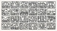 Keith Haring, Retrospect, 1989 on ArtStack #keith-haring #art