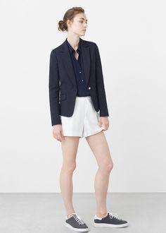 Structured cotton blazer   MANGO