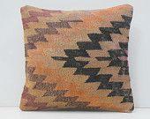 geometric throw pillow 16x16 DECOLIC pastel cushion for sofa art deco rug luxury carpet kilim patchwork euro pillow 15309 kilim pillow 40x40