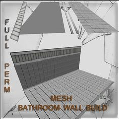 Mesh Bathroom wall & floor build  full perm