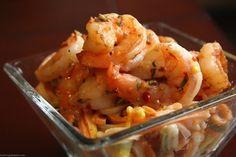 So simple & looks Yummmmmy!  Spicy Garlic Rosemary Shrimp & Pasta