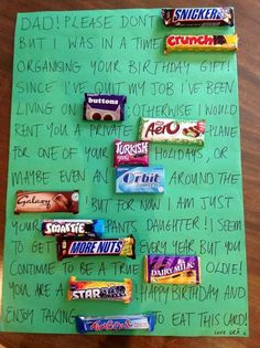 That's sweet – a birthday card of chocolate bars! | BreakingNews.ie