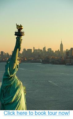 NYC ~ Statue of Liberty. Sunrise #nyc #tours #bus_tours