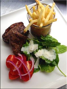 Indulge in a variety of chef specialties at our onsite restaurant: Restaurant & Courtyard. Roast Beef, Pot Roast, Steak And Chips, Lamb Ribs, Mushroom Salad, Hotel Food, Herb Salad, August 2014, Recipe Of The Day