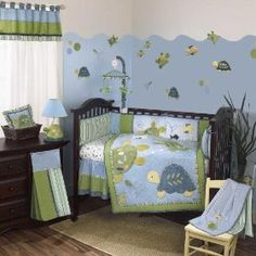 CoCaLo Baby Turtle Reef Eight Piece Set, (baby bedding, baby boy, aquarium, aquarium theme, baby, bedding sets, crib set, nursery, turtle)