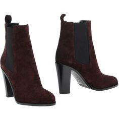 Sergio Rossi Ankle Boots (670 CAD) ❤ liked on Polyvore featuring shoes, boots, ankle booties, cocoa, bootie boots, chelsea bootie, genuine leather boots, leather ankle bootie and ankle boots