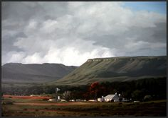 """""""Karoo Passing Storm"""" - - Karoo Landscape by South African artist, Shelagh Price.  http://www.shelaghprice.com"""