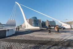 SAMUEL BECKETT BRIDGE [THIS MUST BE THE MOST PHOTOGRAPHED BRIDGE IN DUBLIN] Maybe the Halfpenny Bridge is the most photographed bridge in Dublin … after all  it has been around for a long time but …