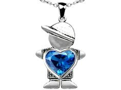 Star K Boy Holding 8mm Mother Heart December Birth Month Pendant Necklace with Simulated Blue-Topaz Sterling Silver. Finejewelers is a US company based in New York. 925 Sterling Silver. Star K. Designs are exclusive and protected by Copyright Laws. 18 inch Chain in a matching metal will be included. Lifetime Warranty exclusively offered by Finejewelers.