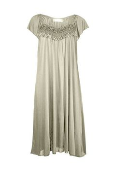 EZI Women's Satin Silk Ruffle Nightgown -- You can find more details by visiting the image link.