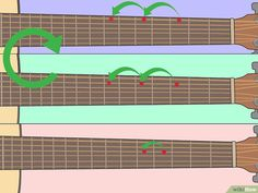 How to Learn Guitar Scales (with Pictures) - wikiHow Learn Guitar Beginner, Guitar Chords Beginner, Learn Guitar Chords, Easy Guitar Songs, Bass Guitar Lessons, Learn To Play Guitar, Guitar For Beginners, Guitar Tips, Music Guitar