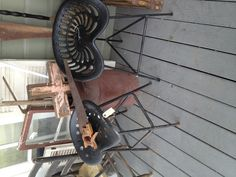 Antique tractor seat stools