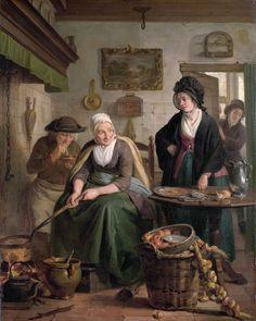 The pancake cook_Adriaan de Lelie(1755-1820)_