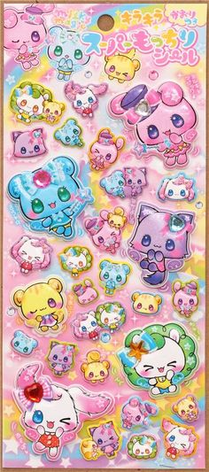kawaii magic animals puffy sponge stickers from Japan 2