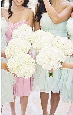 hydrandea bridesmaids bouquets | www.onefabday.com