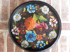 Bright Colored Vintage Folk art Handpainted by ItsAllTreasure, $20.00