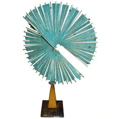 Curtis Jere Verdigris Abstract Metal Table Sculpture