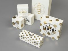 Maison Dandoy biscuit bakery's rebranded packaging suite // by Base Design