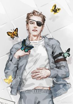 Harry in butterfly dreams h speed painting) Kingsman Harry, Eggsy Kingsman, Kingsman Movie, Superman X Batman, Character Art, Character Design, Different Art Styles, Colin Firth, Speed Paint