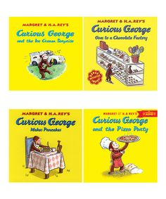 Love this Curious George: Tasty Treats Paperback Set by Curious George on #zulily! #zulilyfinds