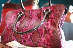 Gabriella Wimmer Pink Leather Tote with Diamonds | Bubbles & Ink Blog