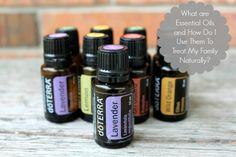 Great post on how to use essential oils to treat my family naturally!
