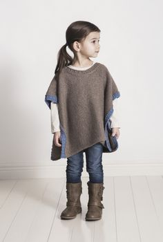 Spud and Chloe Puddle Jumper Poncho Knitting Pattern PDF is part of Knitting and Crochet For Kids - Online yarn store for knitters and crocheters Designer yarn brands, knitting patterns, notions, knitting needles, and kits Shop online or call 18668656487 Easy Knitting Projects, Poncho Knitting Patterns, Knitting For Kids, Baby Knitting, Knitting Needles, Knitting Kits, Knitting Ideas, Toddler Poncho, Girls Poncho
