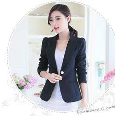 Blazer Korea Wanita Online Terbaru Bahan Polyester B2798