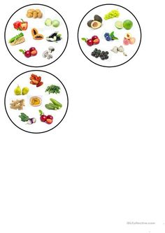 Dobble fruit and vegetables. - English ESL Worksheets for distance learning and physical classrooms Fruit And Veg, Fruits And Vegetables, Action Songs, Clothes Drying Racks, Teaching Jobs, Printable Worksheets, Elementary Schools, Things To Come, Lacy Tops
