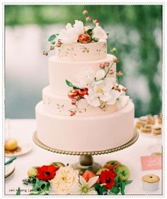 We love wedding cakes! We have everything from the latest trends (bye naked cakes!), to the flavors everyone is loving, expert tips and thousands of beautiful wedding cakes to inspire you. Blush Wedding Cakes, Fruit Wedding Cake, Summer Wedding Cakes, Cool Wedding Cakes, Beautiful Wedding Cakes, Gorgeous Cakes, Pretty Cakes, Summer Weddings, Perfect Wedding