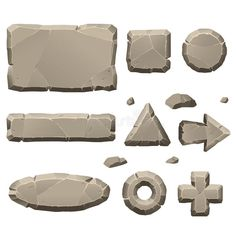 Find Stone Game Design Elements stock images in HD and millions of other royalty-free stock photos, illustrations and vectors in the Shutterstock collection. Game Icon Design, Game Character Design, Stone Game, Casual Art, 2d Game Art, Game Textures, Game Gui, Button Game, Game Background