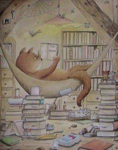 Fantasy a Sci-fi: Taverna neboli Diskuzní fóra: Vše o knihách I Love Books, Books To Read, My Books, Cat Reading, Reading Nook, Illustrator, World Of Books, Poetry Books, Book Images