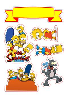 Bolo Simpsons, Simpsons Party, The Simpsons, Simpsons Drawings, Donut Party, Image Fun, Diy Origami, Bart Simpson, Cake Toppers