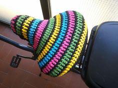 CRochet bike seat cover by Crochétula
