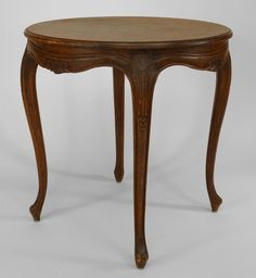 French Louis XV table end table walnut