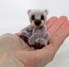 """omgomgomg is this real life??   """"Pixie""""  (Panda) Bear 2.75"""" tall-  by The Peach Peddler"""