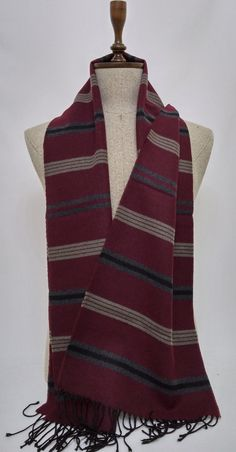 Claret red Men's Scarf, Claret red Scarf, Soft Men's Scarf - SC128 #handmadeatamazon #nazodesign