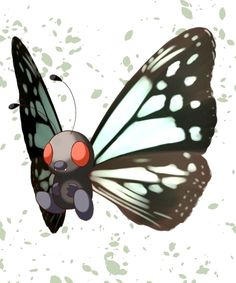 Butterfree with a little too much black on the wings