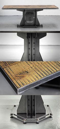 The Forge Table - unique, industrial design made with heavy gauge mild steel. A stand out feature for any room or office