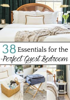 A master list of all of the best amenities and essentials to set up your guest bedroom like a hotel suite to help guests feel pampered and relaxed guestbedroom guestroom guestbedroomessentials guestroomessentials guestroomamenities perfectguestbedroom Affordable Home Decor, Cheap Home Decor, Affordable Hotels, Guest Room Decor, Bedroom Decor, Bedroom Ideas, Guest Room Furniture Ideas, Guest Room Essentials, Manufactured Home Remodel